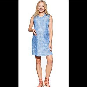 Maternal America shift dress indigo blue sz SMALL